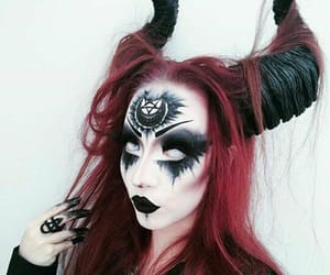 goth, Halloween, and makeup image