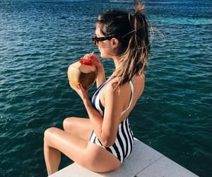 beach, summer, and yummy image