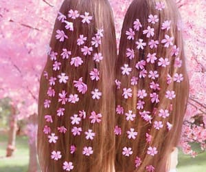 flowers, hair, and long hair image