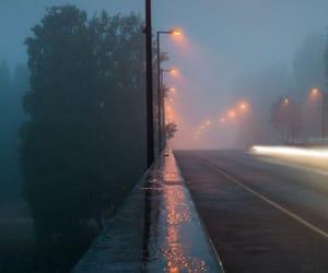 rain, light, and street image