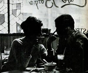 cafe, couple, and photography image