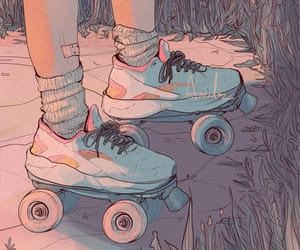 aesthetic, roller skates, and art image