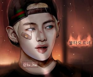fanart, kpop, and v image
