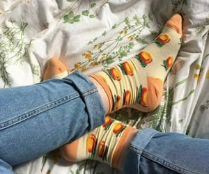 aesthetic, jeans, and orange image
