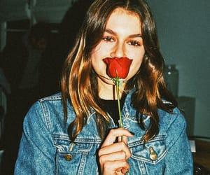 girl, kaia gerber, and love image