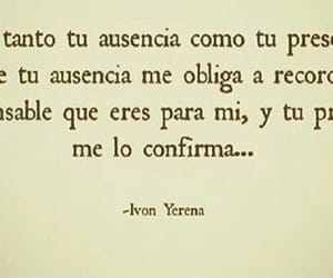love, frases, and ausencia image