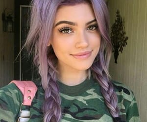 ayes, colorfull hair, and beauty image