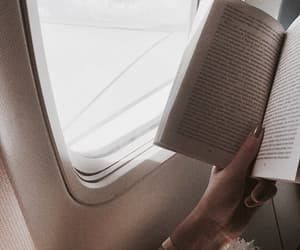 aesthetic, airplane, and book image
