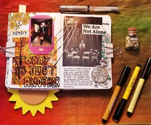 bullet, journal, and scrapbook image