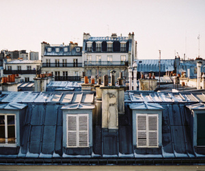 city, roof, and vintage image