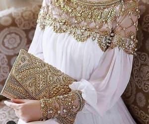 fashion, dress, and white image