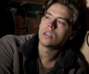 cole sprouse, boy, and smoke image