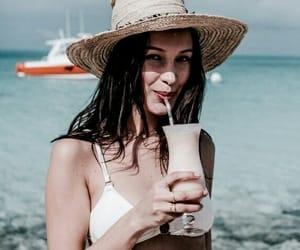 bella hadid, model, and beach image