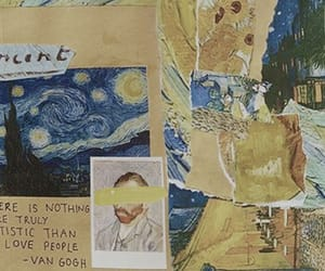 header, van gogh, and aesthetic image