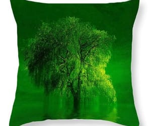 green, willow tree, and landscape image