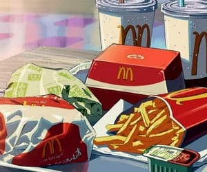 anime, food, and McDonalds image