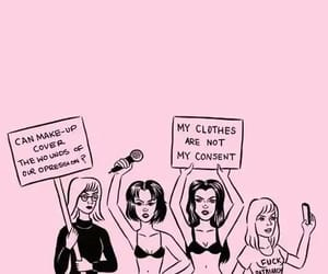 girl, feminist, and pink image