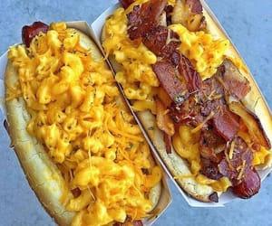 bacon, food, and hot dog image