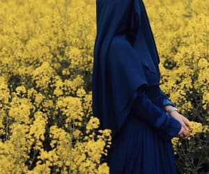 fashion, hijab, and yellow flower image