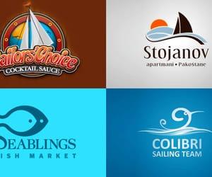 logo design, logo designs, and sea themed logo designs image