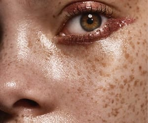 freckles, eyes, and makeup image