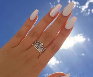 nails, ring, and sky image