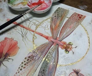 art, color, and dragonfly image