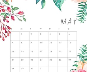 calender, flowers, and hello image
