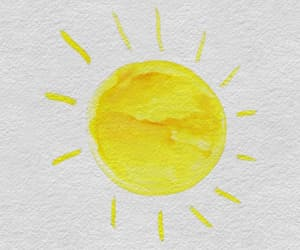 sun, yellow, and overlay image