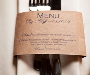 diy, menu, and wedding image