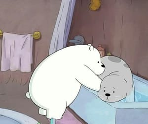 cartoon, ice bear, and wallpaper image