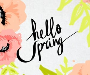 flowers, hello, and neon image