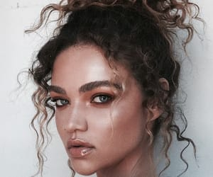 bun, inspiration, and curly hair image