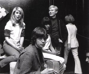 60s, andy warhol, and mick jagger image