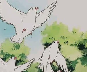 anime, bird, and cartoon image