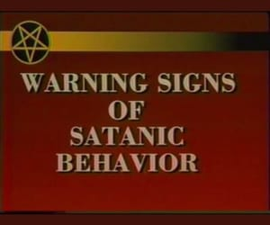 1990's, police, and satanic image
