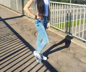 adidas, hairstyle, and outfit image