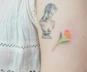 art, delicate, and flower image
