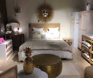 bedroom, gold, and déco image