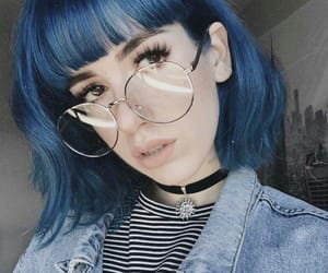 blue hair, goals, and icon image