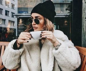 fashion, girl, and coffee image