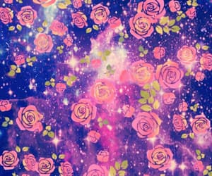 flower, pink, and galaxy image
