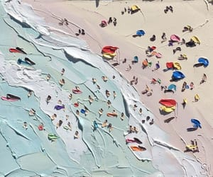 art, beach, and paint image