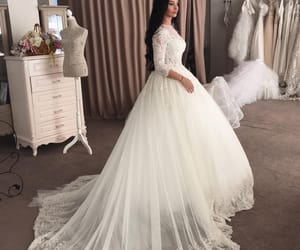 bridal, white dress, and bride image