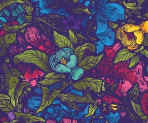 colorful, flower, and colorful pattern image