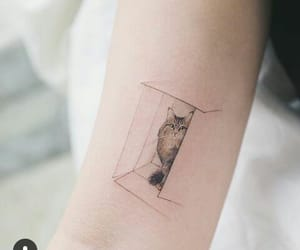 cat, realist, and tattoed image