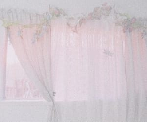 aesthetic, curtains, and pastel image