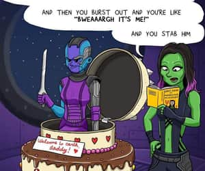 Marvel, gamora, and nebula image