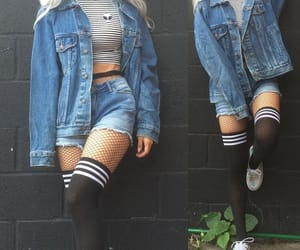 outfit, grunge, and denim image