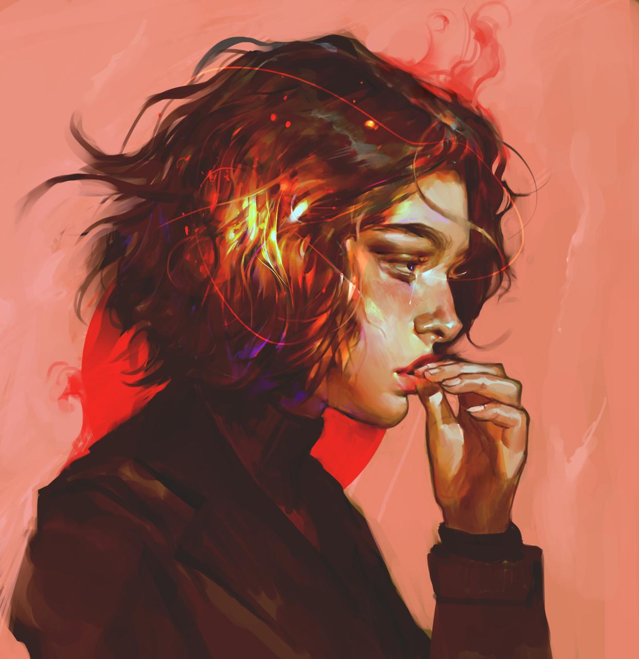 Anime girl red hair tumblr